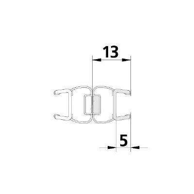 F122374 Magnetprofil PTD (8 mm) 2010 mm