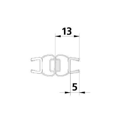 F122384 Magnetprofil PTD (6 mm) 2010 mm