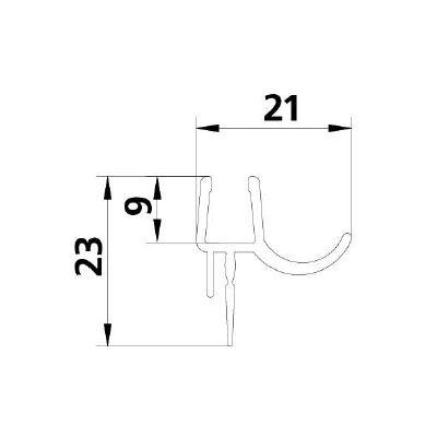 EDTL F971013 2x FX 1845 14B 985 mm RL
