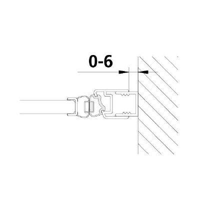 F122643 Magnetprofil 22,5° / 2010 mm